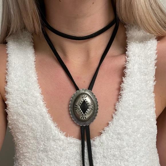 Handmade bolo necklace